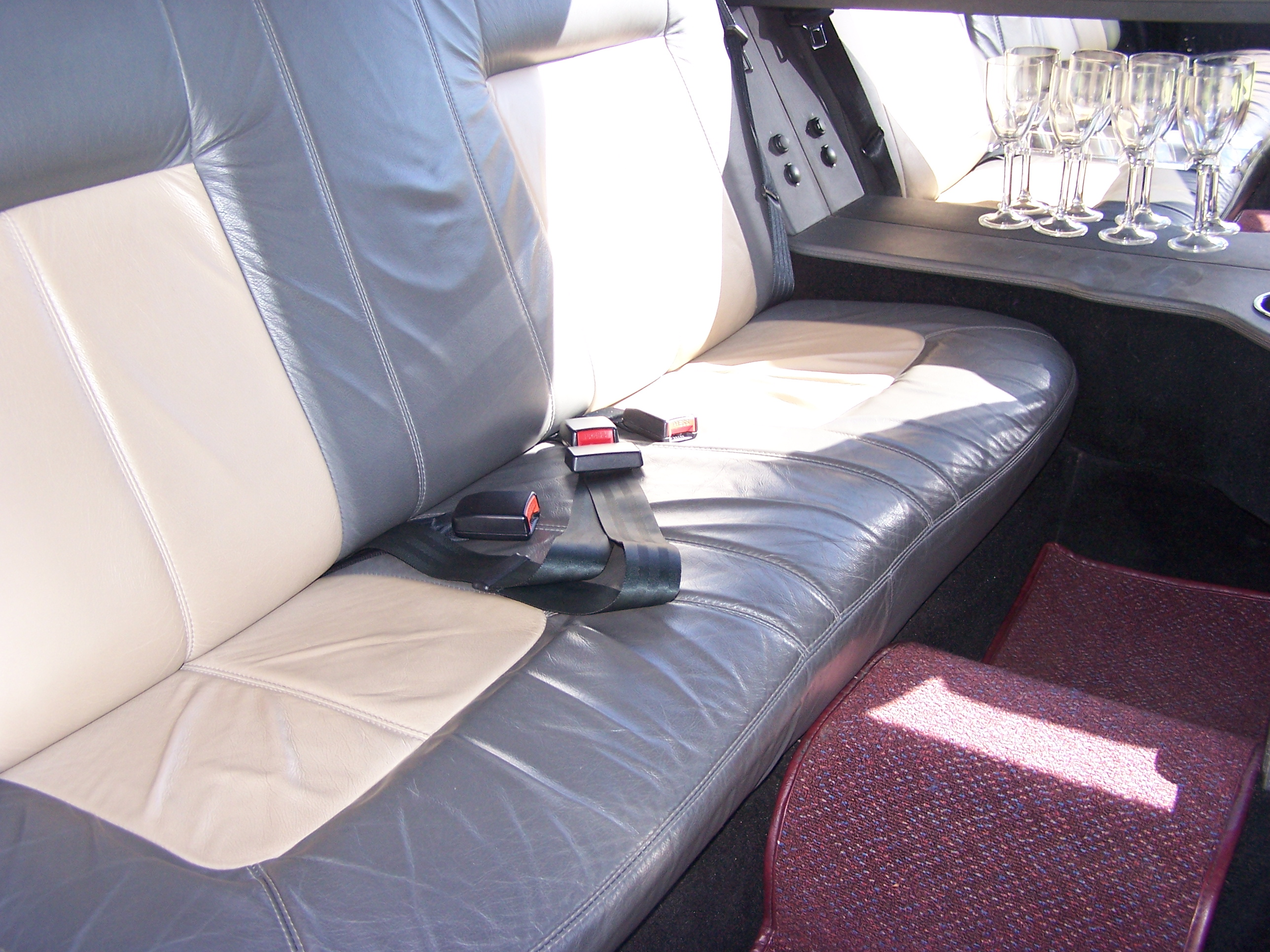 Luxury Leather Interior with Cocktail Bar