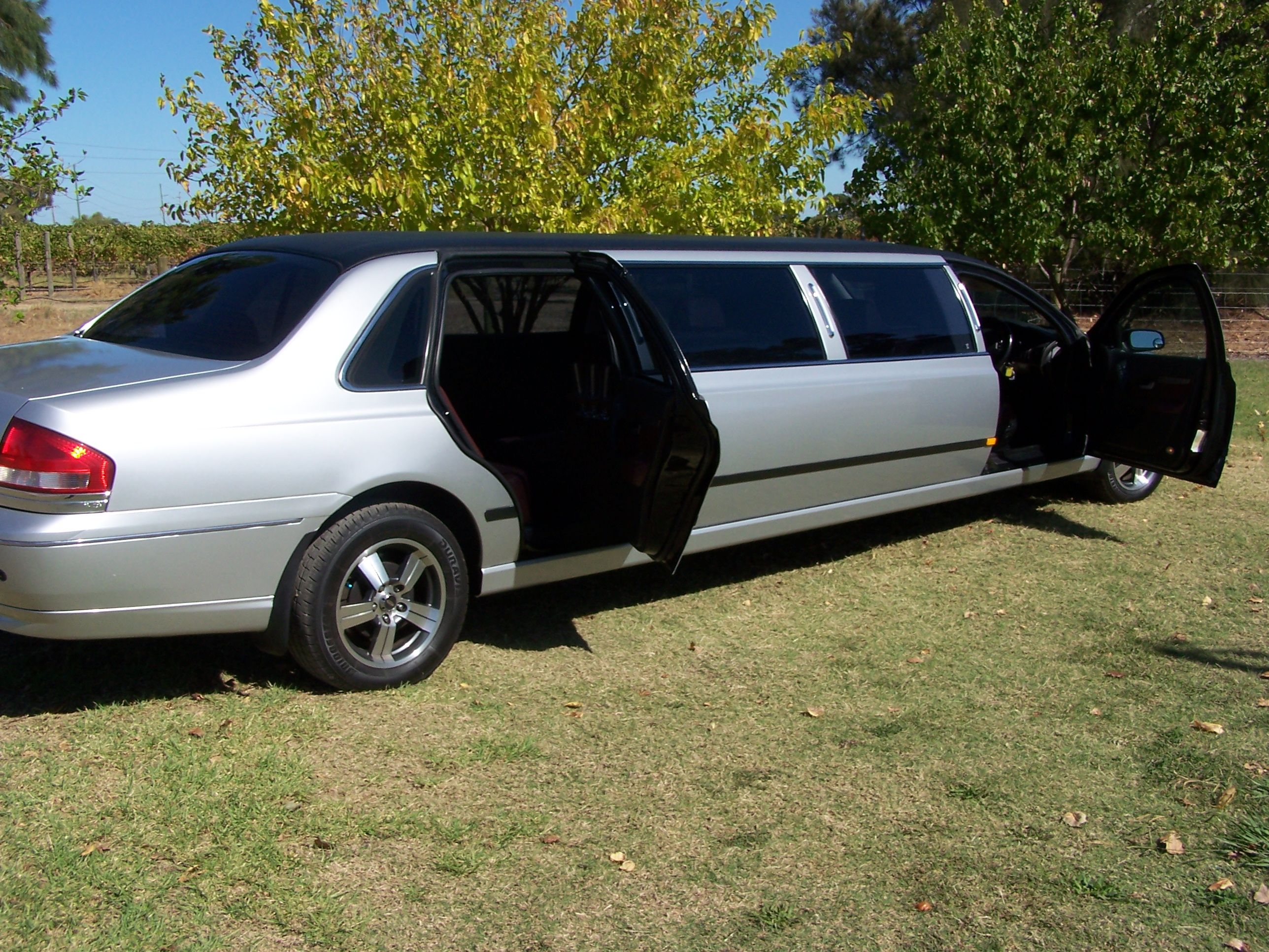 Silver 9 Seater Limo